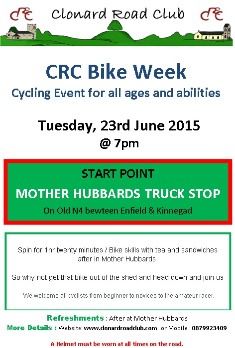 CRC bike week 23 June 15