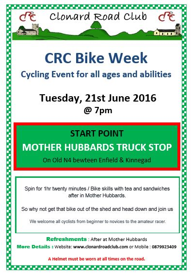 CRC bike week 21 June 16