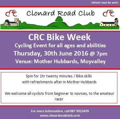 CRC bike week 30 June 16