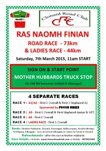 Ras Naomh Finian Race 2015 with Sponsor