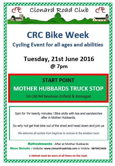 CRC bike week 21 June 16